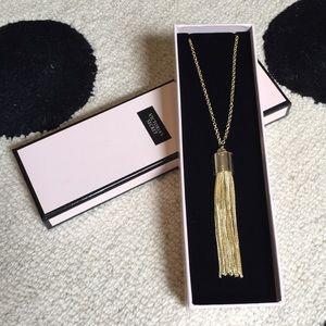 NIB Victoria's Secret Gold Tassel Necklace